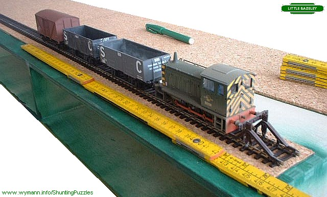 How to build a small shunting puzzle layout